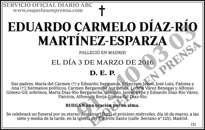 Eduardo Carmelo Díaz-Río Martínez-Esparza